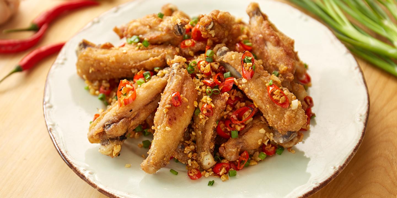 ปีกไก่ทอดคั่วพริกเกลือ