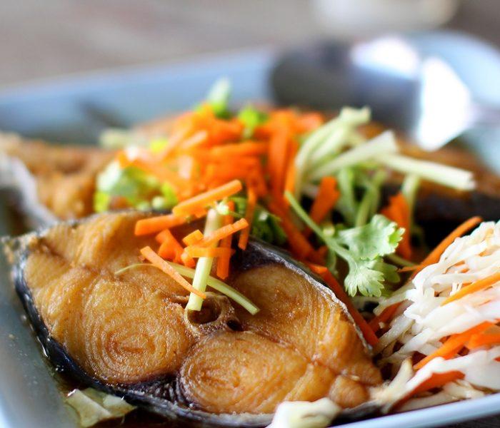 เมนูปลาอินทรีย์ทอดซีอิ้ว
